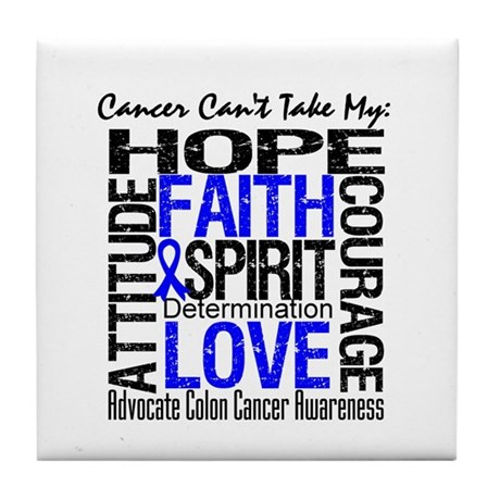 Colon Cancer Can't Tile Coaster