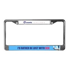 I'd rather be lost with Ben License Plate Frame