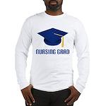 Blue Nursing Grad Long Sleeve T-Shirt