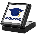 Blue Nursing Grad Keepsake Box