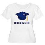 Blue Nursing Grad Women's Plus Size Scoop Neck T-S