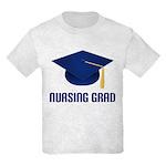 Blue Nursing Grad Kids Light T-Shirt