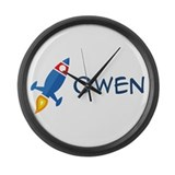 Owen Rocket Ship Large Wall Clock