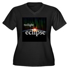 twilight eclipse Women's Plus Size V-Neck Dark T-S