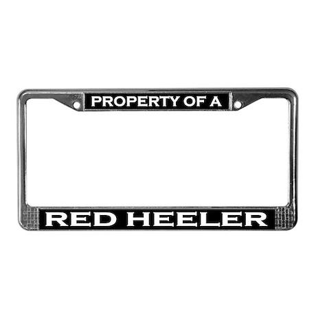 Property of Red Heeler License Plate Frame
