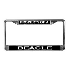 Property of Beagle License Plate Frame
