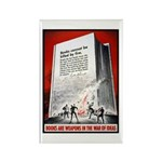 Books Are Weapons Poster Art Rectangle Magnet (10