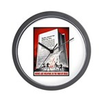 Books Are Weapons Poster Art Wall Clock