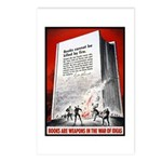 Books Are Weapons Poster Art Postcards (Package of