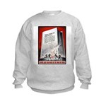 Books Are Weapons Poster (Front) Kids Sweatshirt