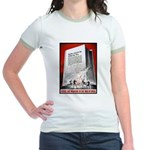 Books Are Weapons Poster (Front) Jr. Ringer T-Shir
