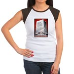 Books Are Weapons Poster (Front) Women's Cap Sleev