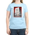 Books Are Weapons Poster (Front) Women's Pink T-Sh