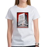 Books Are Weapons Poster (Front) Women's T-Shirt