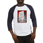 Books Are Weapons Poster (Front) Baseball Jersey