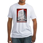 Books Are Weapons Poster (Front) Fitted T-Shirt
