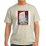 Books Are Weapons Poster (Front) Ash Grey T-Shirt