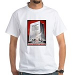 Books Are Weapons Poster (Front) White T-Shirt