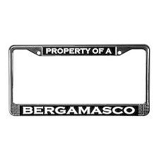 Property of Bergamasco License Plate Frame