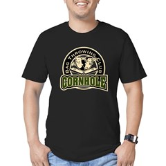 Cornhole Throwing Club Men's Fitted T-Shirt (dark)