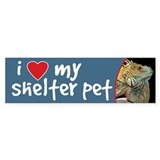 I Love My Shelter Pet Bumper Sticker