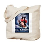 Don't Shiver Winter Poster Art Tote Bag