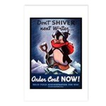 Don't Shiver Winter Poster Art Postcards (Package