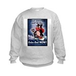 Don't Shiver Winter Poster Art Kids Sweatshirt
