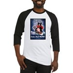 Don't Shiver Winter Poster Art Baseball Jersey