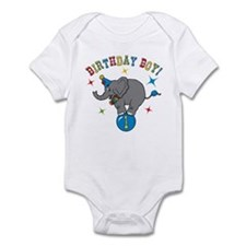 Circus Elelphant 1st Birthday Boy Infant Bodysuit