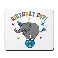 Circus Elelphant 3rd Birthday Boy Mousepad