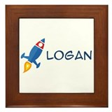 Logan Rocket ship Framed Tile