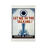 Big Guns Talk Poster Art Rectangle Magnet