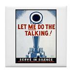 Big Guns Talk Poster Art Tile Coaster