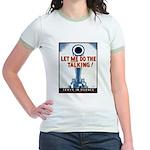 Big Guns Talk Poster (Front) Jr. Ringer T-Shirt