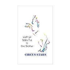 Circus Stars Rectangle Decal