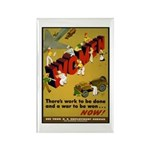Women Power Now Poster Art Rectangle Magnet