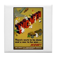 Women Power Now Poster Art Tile Coaster