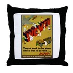 Women Power Now Poster Art Throw Pillow