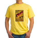 Women Power Now Poster Art Yellow T-Shirt