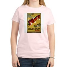 Women Power Now Poster Art Women's Pink T-Shirt