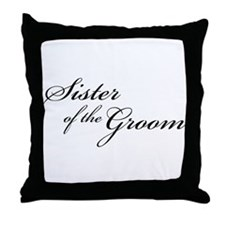 Sister of the Groom (FF) Throw Pillow
