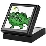 Cute Angler Keepsake Box