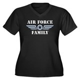 Air Force Family Women's Plus Size V-Neck Dark T-S