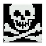 Funny Piracy Tile Coaster
