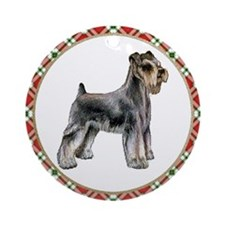 Schnauzer Christmas Ornament (Round)
