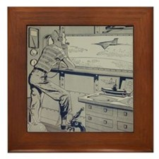 Tom Swift, Jr. Lab Framed Tile