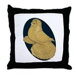 Yellow Trumpeter Throw Pillow