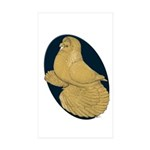 Yellow Trumpeter Sticker (Rectangle 10 pk)