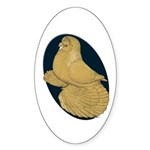 Yellow Trumpeter Sticker (Oval 50 pk)